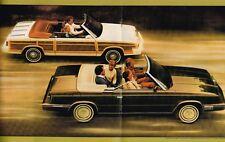 1984 Chrysler LeBARON Brochure/Catalog w/ Color Chart:Convertible,Coupe,Wagon,