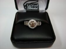 LeVian 14k WG Chocolate & White Diamond Ring 1 1/5 (1.20) TCW  - size 6.75