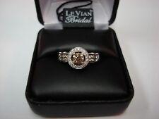 LeVian 14k WG Chocolate & White Diamond Ring 1 1/5 (1.20) TCW sz 6.75