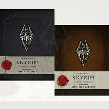 Elder Scrolls V Skyrim Library Collection By Softworks Bethesda 2 Books Set, New