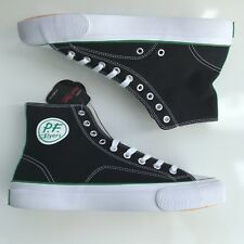 PF Flyers All American Center Hi Mens Black Canvas High Top Trainers Shoes 8.5 42