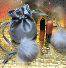 Mac Snow Ball Shadescents d'Nude Set, Pouch, Lipstick, Rollerball, .1 oz. New