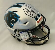 CHRISTIAN MCCAFFREY SIGNED CAROLINA PANTHERS F/S SPEED FLEX HELMET HYDRO DIP+COA