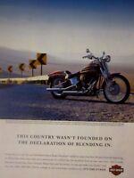 "2004 Harley Davidson Softail Springer Original Print Ad 8.5 x 11"""