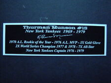 Thurman Munson Autograph Nameplate New York Yankees Autograph Jersey Ball Photo