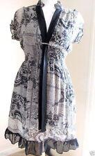 Chiffon Cocktail Short Sleeve Tunic Dresses for Women
