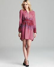 BNWT MARC BY MARC JACOBS Paradox Print Silk Shirt Dress Berry Sold out 2 XS 398