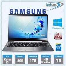 "Samsung 540U 13.3"" Laptop Intel Core i3 8GB RAM 1TB HDD Windows 10 Notebook"
