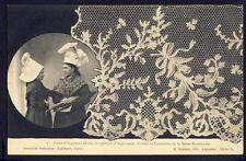 Carte Postale Ancienne NORMANDIE COIFFE COSTUME ARGENTAN DENTELLE LACE SPITZE