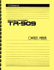 Roland TR-909 Rhythm Composer Drum Machine Owner's Manual AND Service Notes