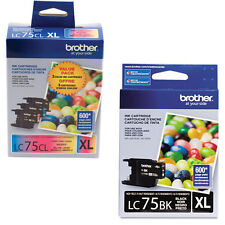 4 Brother LC 75 High Yield XL Genuine Ink Cartridges For MFC-J6910DW MFC-J825DW