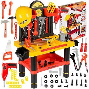 Kinderwerkbank Werkzeug Werkstatt Zubehör  KP2646 Kleinkindspielzeug Kinderbank