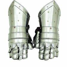 New Medieval Gauntlets Armor Metal Plate Pair Set of 2 Gloves Knight Reenactment