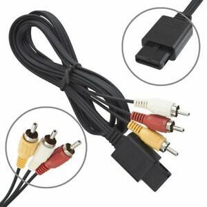 For Nintendo GameCube N64 AV Audio Video Cable to RCA SNES 6FT T5C2 F6X8