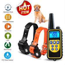 2 Collar de Adiestramiento Perro Sonido Vibración Antiladridos Pet Trainer