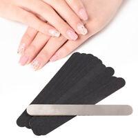Nail Art Double-sided 100/180 Grit Files Uv Gel Polisher Manicure Pedicure 10PCS