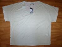 """Neues G-Star Damen Shirt """"Joosa V-Neck"""" Gr XL Kalk Weiß"""