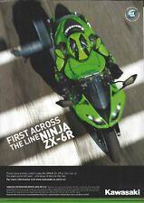an Original 2010 Magazine Advertisement for the Kawasaki ZX-6R Ninja