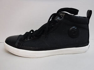 Polo Ralph Lauren Size 8.5 Black Hi Top Sneakers New Mens Shoes