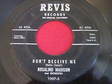 RARE SOUL 45 - ROSALIND MADISON - DON'T DECEIVE ME - REVIS 1007