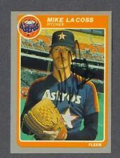 Mike LaCoss signed Houston Astros 1985 Fleer baseball card