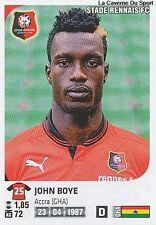 N°344 JOHN BOYE # GHANA STADE RENNAIS VIGNETTE STICKER  PANINI FOOT 2013