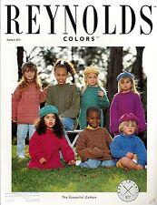 Reynolds Yarn Knitting Patterns Set of 2 - Kids Pullover & Hat