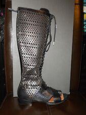 Proenza Schouler Lizard Laser CutOut Lattice Lace Up Gladiator Sandal Shoes 36.5