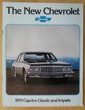 CHEVROLET Caprice Classic & Impala 1979 USA market brochure