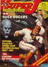 Super J n°9 du 02/03/ 1982 - Buck Rogers en BD - Galactica - Luky Luke -