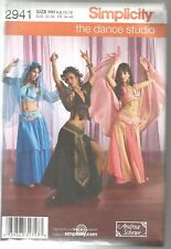 Simplicity Sewing Pattern 2941, Adult Belly Dance Costumes ,  Size 6 - 12, Uncut