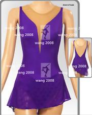 Figure Skating Dress Women's / Girls' Ice Skating Dress purple deep v Spandex