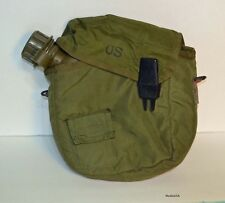 ORIGINAL Vietnam War US Army 2 quart collapsible canteen & cover dated 1972  2qt