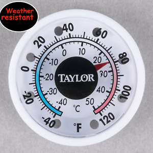 "TAYLOR 5380 N 1 3/4"" DIAL STICK ON THERMOMETER INDOOR / OUTDOOR - RUST PROOF"