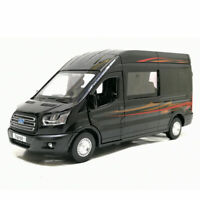 Ford Transit MPV 1:35 Scale Model Car Diecast Gift Toy Vehicle Kids Boys Black