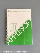Vintage Apple II Manual - AppleSoft Basic Programming Reference Manual