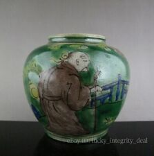 Chinese Old Five Colours Character Story Porcelain Jar tank