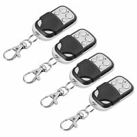 4x Universal 4-Button Gate Garage Door Opener Remote Control 433.92MHZ/Keychain