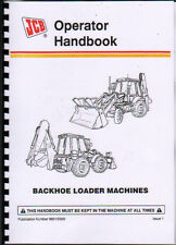 JCB 3CX and 4CX Retroexcavadora Cargador Operador Handbook Manual