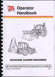 JCB 3CX and 4CX Backhoe Loader Operator Handbook Manual