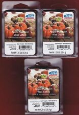 Lot of 3 Apple Pumpkin Scented Wax Melt Cubes MainStays Works w/Better Homes