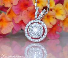 Zeitlos: Edler Diamanten Anhänger - 0.44 ct. W SI2 - Weißgold 750 - ab 2.000,00€