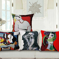 "18""x45cm Picasso Artistic Painting Cotton Linen Cushion cover Pillowcase"