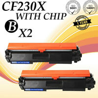 2PK CF230X 30X High Yield Toner Cartridge For HP LaserJet Pro M203dw MFP M227fdw