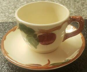 (Set of 4) Vintage Franciscan Apple Ware Cup & Saucer Set(American Backstamp)