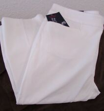 "Ladies ""Chaps"" Size 12, White, Slimming Fit, Mid Rise, Slim, Stretch  Capri"