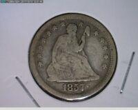 1857 25C Seated liberty Quarter ( 16s235 )