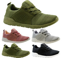 Ladies Womens Running Fitness Lace Up Gym Light Sports Comfy Trainers Shoes Size