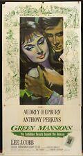 MANIFESTO AMERICANO, VERDI DIMORE Green Mansions AUDREY HEPBURN, J.COBB, POSTER