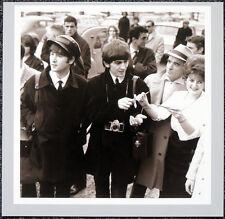 THE BEATLES POSTER PAGE . 1964 LE BOUGET AIRPORT PARIS JOHN LENNON & GEORGE .H19